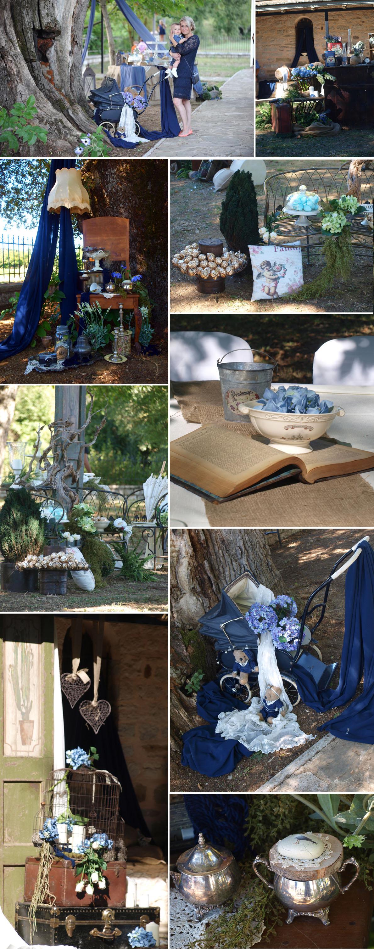 diakosmisi blue vintage vaptisis2