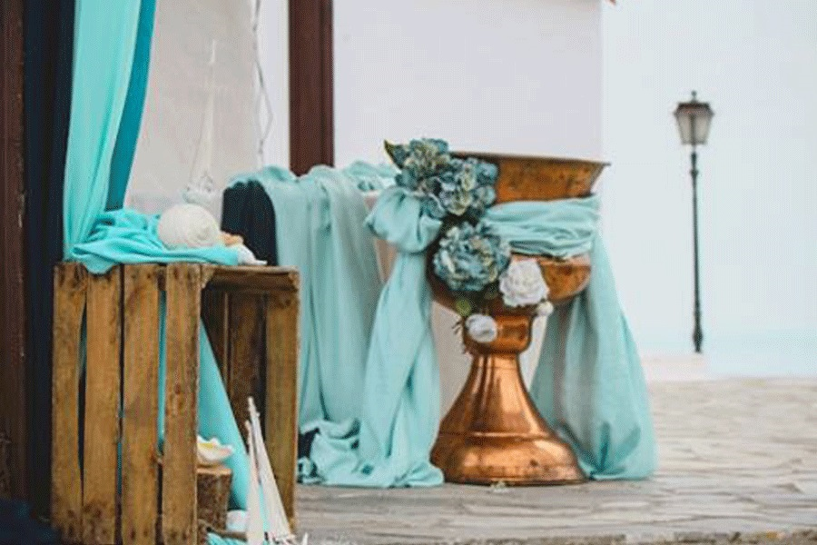 Tiffany Blue & Navy Blue Baptism